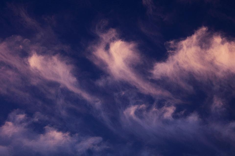 夕映えの尾流雲群 #1