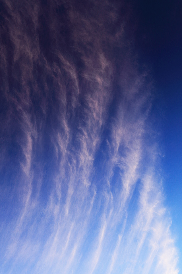 夕映えの巻雲過ぐ #2