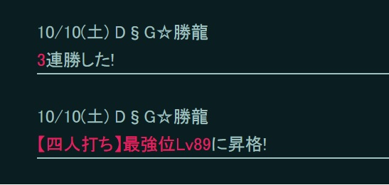 勝龍さんLv89昇格