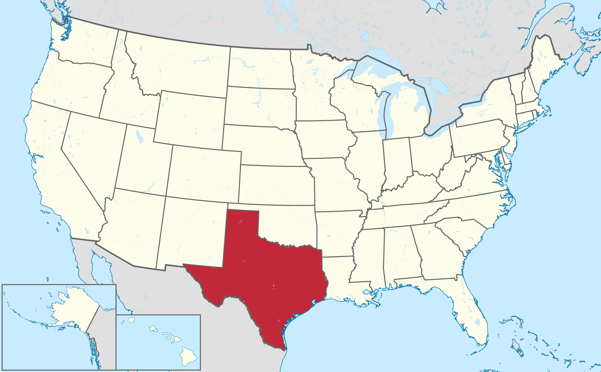 テキサス州の位置