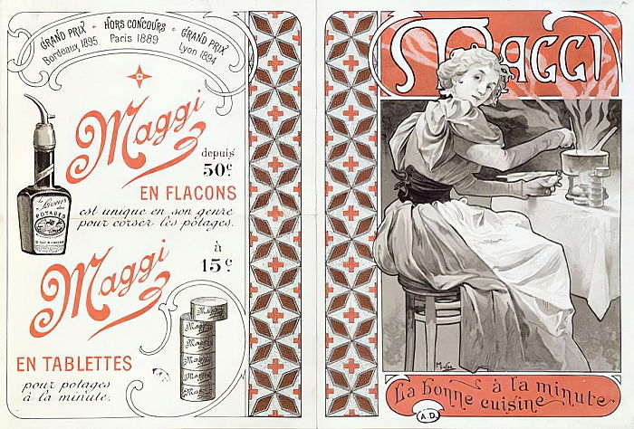 Alphonse Mucha - Advertisement for Maggi late 19th century - (MeisterDrucke-42835)