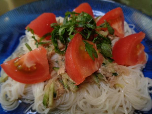 7/19 家食・サラダ素麺
