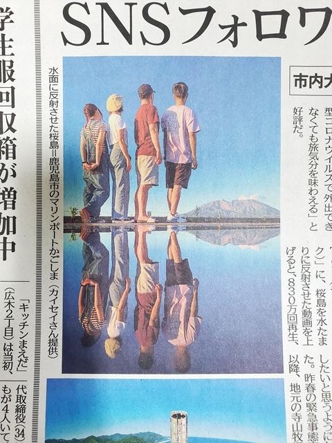 水面桜島2