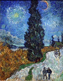 「糸杉と星の見える道」(#45