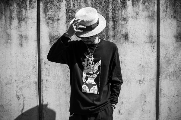 GANGSTERVILLE WANT LOVE-L/S T-SHIRTS REBEL-PATS KISSING-BOATER HAT