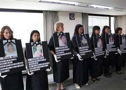 韓国人の夫に殺害された外国人妻の遺影を掲げる女性たち20200219 CNN「韓国人の外国人花嫁の多くが虐待被害」!殺人も多数!韓国人夫によるベトナム人妻殺害は毎年