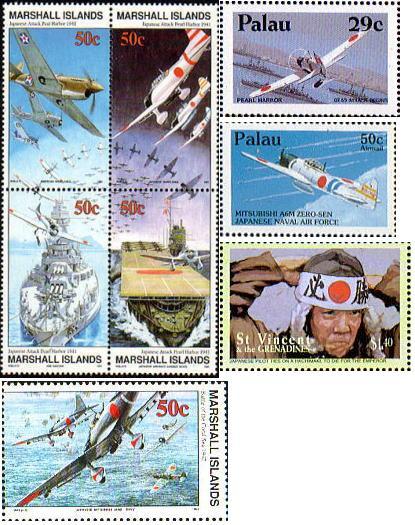 パラオとマーシャル諸島の切手