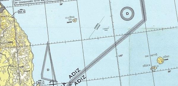 「竹島は日本領」米政府作製の航空図に明記…サンフランシスコ講和条約を反映