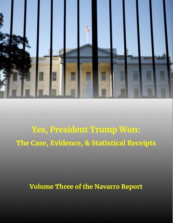 20210116Yes!トランプ大統領は勝利した:事実、証拠、そして統計的計算・第3回ナバロ報告書・証拠列挙
