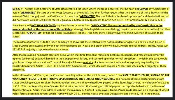 20201222 12月23日に勝負!ペンス副大統領が選挙人投票の受取を拒否?最高裁がPA州申立に回答・バー辞任