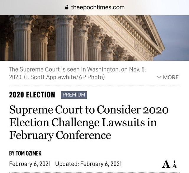 20210208米最高裁が不正選挙訴訟に着手決定!1月に蹴った訴訟含む・闇側の辞任、失脚(逮捕)続出で変化?