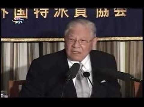李登輝前台湾総統 日本外国特派員協会での記者会見一部