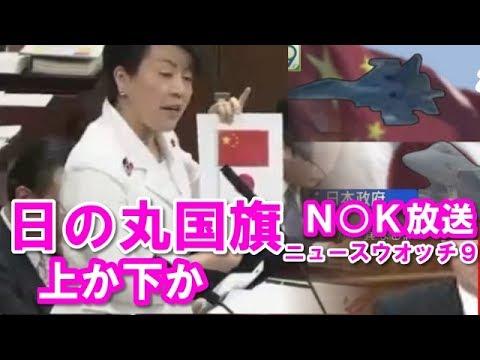 【国会中継面白】「日の丸の上に中国国旗が配置された」 nhk ニュースウオッチ9の番組を有村治子(自民)が抗議。岸信夫外務副大臣も
