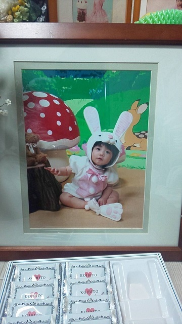 爽彩さんの幼少期の写真