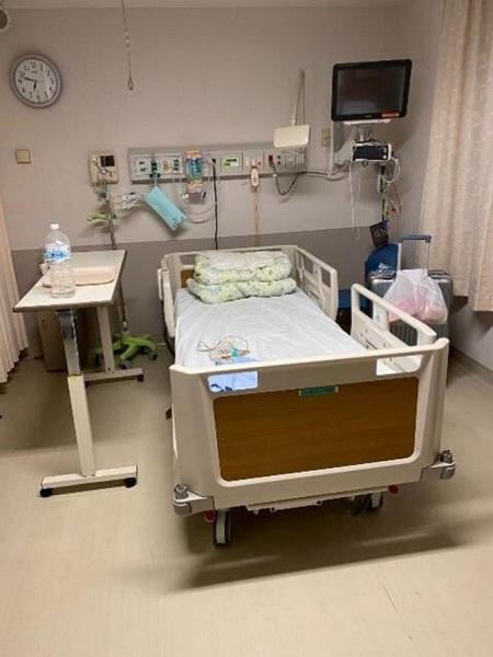李氏が入院した隔離病室(李文君氏提供写真)