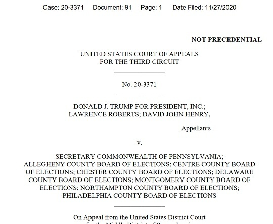 20201129 PA州で100万票超の不正な郵便投票が発覚!トランプ「100%不正選挙!バイデン8000万票」
