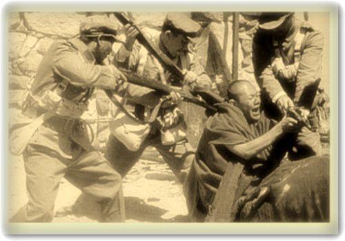 支那軍によるチベット侵攻