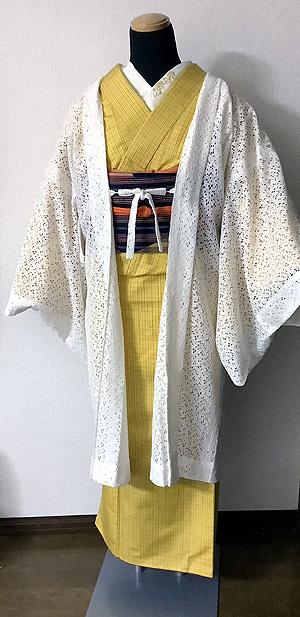 菜の花コーデ羽織