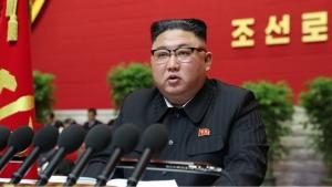 North Korean leader Kim Jong Un speaks at the Workers Party congress in Pyongyang