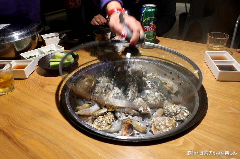 青島名物 海鮮蒸鍋
