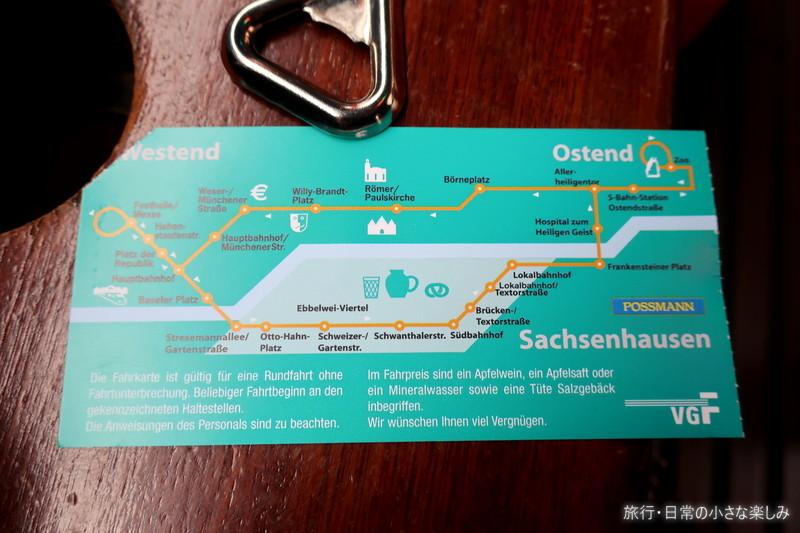 りんご酒列車 ドイツ フランクフルト