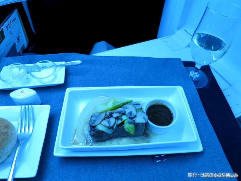 JL711 ビジネスクラス 機内食 B787
