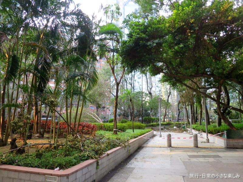 香港 台風22号被害
