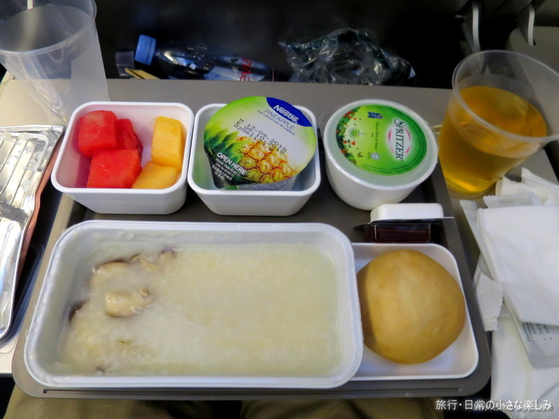 CX504 キャセイパシフィック 機内食 朝食