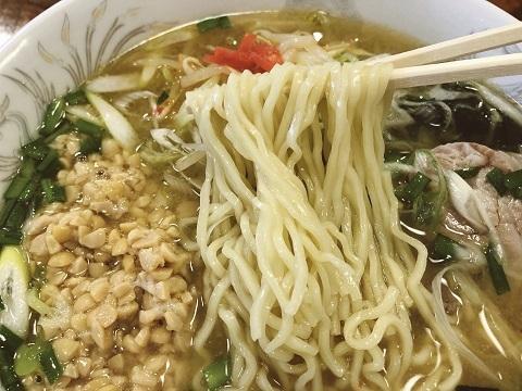 ネギみそ納豆麺
