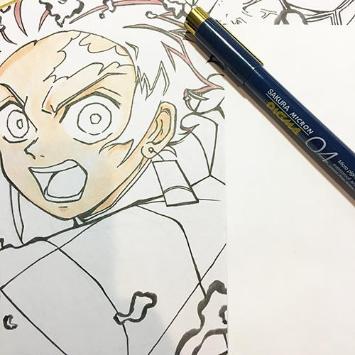 「鬼滅の刃」でお絵描き大会の続き③