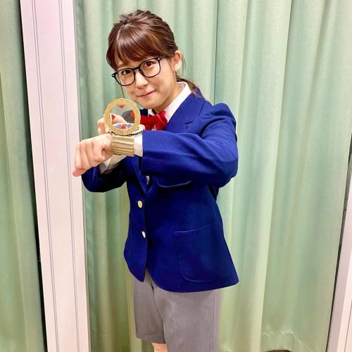 日テレ・尾崎里紗アナ、名探偵コナンのコスプレ披露「めっちゃ可愛い」と絶賛