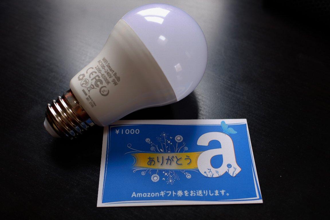 2021.03.08 机 LiJun LEDスマート電球 添付品