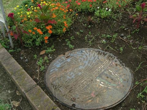 花壇にデザイン蓋(201508)古河市
