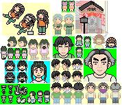 合田繁&自転車のドット絵(連結)16+32+48