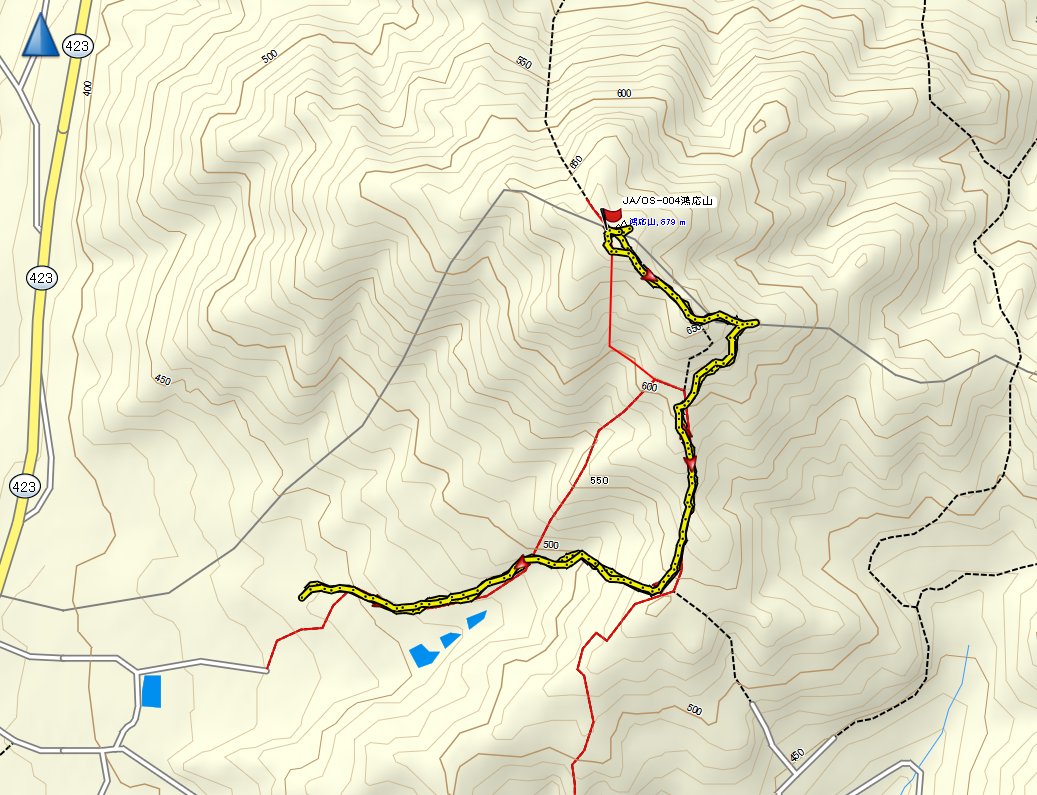 2020鴻応山/地図