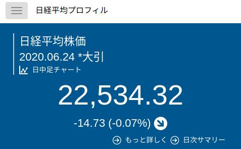 日経平均プロファイル