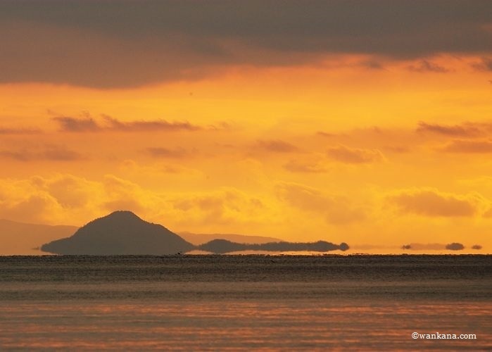 室積海岸から望む浮島現象、日本 2005
