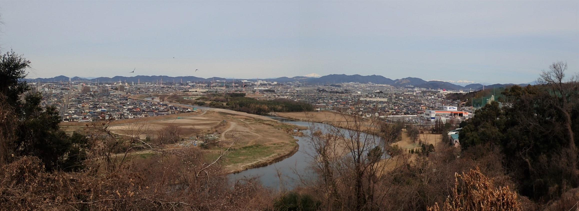 竜泉寺東側からの眺望