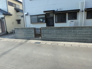 2 着工前(土井町Y様邸ブロック塀改修工事(完成))