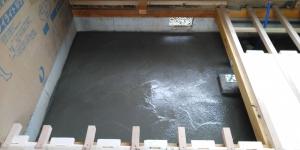 2 ユニットバス土間下コンクリート打設完了(菱池S様邸大型リフォーム工事(土間打ち・間仕切壁下地・電気配線))