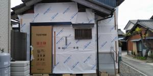 9 玄関引戸完了(幸田町菱池S様邸大型リフォーム工事(サッシ取付))