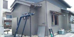 1 既設外壁解体前(幸田町菱池S様邸大型リフォーム工事(サッシ取付))