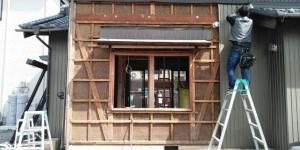 3 既設サッシ解体(幸田町菱池S様邸大型リフォーム工事(サッシ取付))