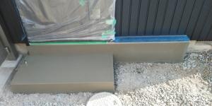 9 外玄関ポーチモルタル塗り完了(菱池S様邸大型リフォーム工事(内装クロス・玄関タイル))