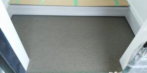 4 玄関タイル下地モルタル塗り(菱池S様邸大型リフォーム工事(内装クロス・玄関タイル))