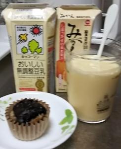 豆乳とジュースで飲むヨーグルト風
