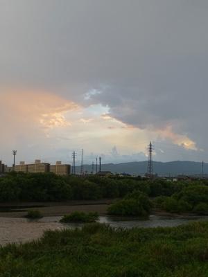 雨上がりの夕焼け2008