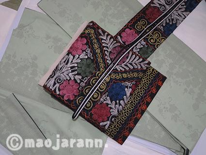 11-18草色結城紬×ウズベキスタン01