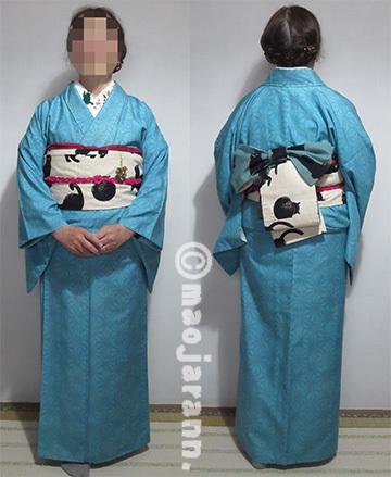 12-9ターコイズ紬×猫03