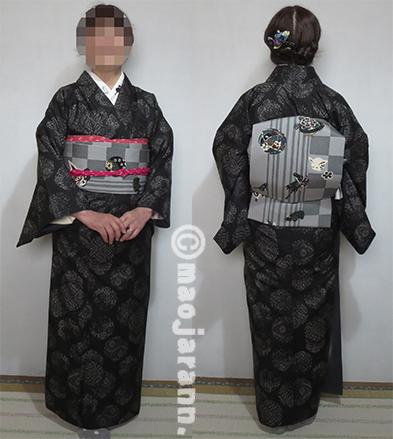 1-2黒雪輪大島紬03